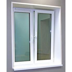 Металлопластиковое окно ALMplast белое
