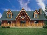 Деревянный домик с террасой