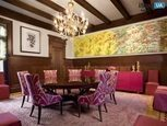 Дизайн столовой в розовых тонах