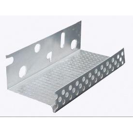 Алюминиевый фасадный стартовый цокольный профиль для утеплителя 103 мм 2 м