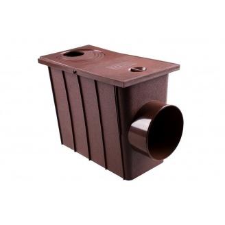 Колодец ливневый с боковым сливом Profil 75/100 мм коричневый