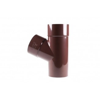 Тройник Profil 100/75/60 коричневый