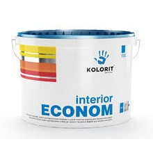 Водно-дисперсионная краска Kolorit Interior Econom 10 л