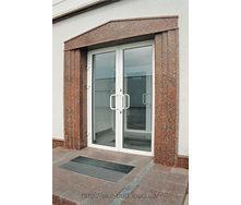 Двери входные стеклянные из алюминиевого профиля