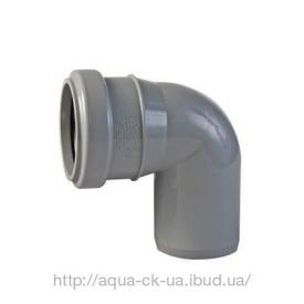 Коліно каналізаційне 110 мм 90 градусів