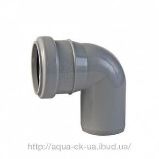 Колено канализационное 110 мм 90 градусов