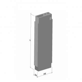 Вентиляционный блок ВБ 30-2 ТМ «Бетон от Ковальской» 910х300х2980 мм