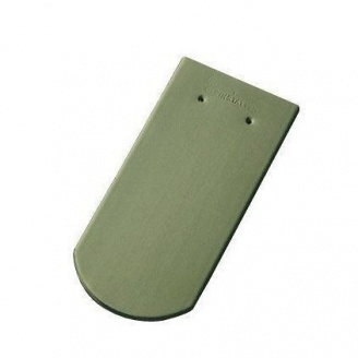Керамічна черепиця Tondach Бобровка ОК Австрія 400х190 мм світло-зелена