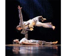 Сценический танцевальный линолеум Grabolett balett Broadway 17 черно-серый