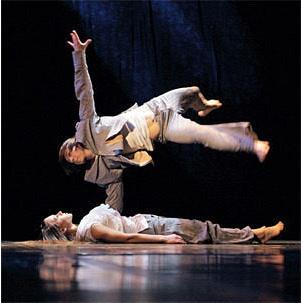 Сценічний танцювальний лінолеум Grabolett balett Broadway 17 чорно-сірий