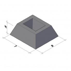 Фундамент панелі огорожі ФЗП 1-1 ТМ «Бетон від Ковальської»