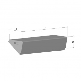 Сходова щабель ЛС 11-1 1050*330*145 мм