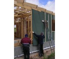 Наружное утепление фасада ветрозащитными плитами Isoplaat 12 мм