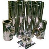 Труба для димоходу нержавіюча в кожусі з оцинкованої сталі 200/270х0,8 мм