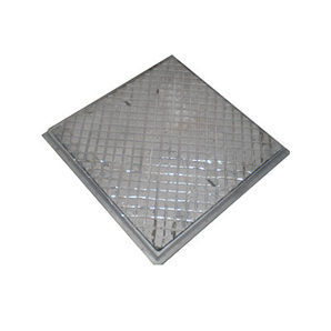 Люк чугунный канализационный квадратный ЛК 590х590 (1.05)