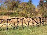 Декоративний дерев'яний паркан