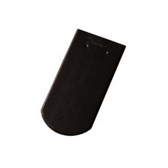 Керамическая черепица Tondach Бобровка ОК Словения 400х190 мм черная