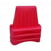 Блок дорожный Импекс-Груп водоналивной вставной 480х800х1000 мм красный