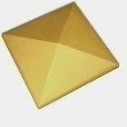 Оголовок для ограждения CRH 95 мм желтый
