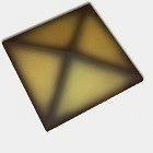 Оголовок для ограждения CRH 95 мм желтый ангобированный