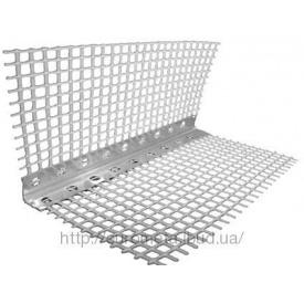 Угол алюминиевый с сеткой 70х22 мм 3 м