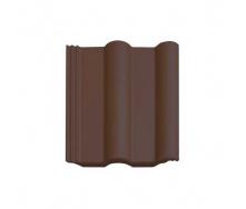 Цементно-песчаная черепица Vortex Двойная римская рядовая 330*420 мм темно-коричневая глянцевая