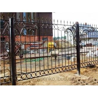 Кованый металический забор
