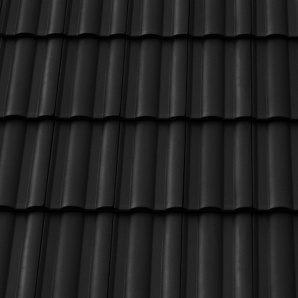 Черепиця керамічна бічна права Tondach Твіст Угорщина 300х500 мм чорна