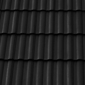 Керамическая черепица половинчатая Tondach Твист Венгрия 170х500 мм черная