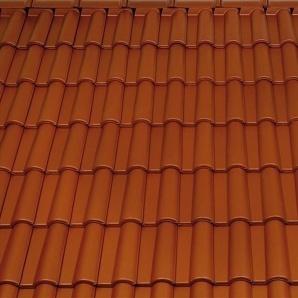 Керамічна підгребенева бічна права черепиця Tondach Медитеран Угорщина 270х430 мм коричнева
