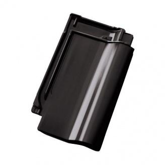 Черепиця керамічна Tondach Самба Чехія 280х470 мм чорна