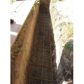 Бетонирование фундаментов на участке