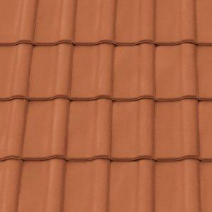 Керамічна черепиця підгребенева Tondach Румба 500х300 мм мідно-коричнева