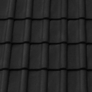 Керамическая черепица крайняя левая Tondach Румба Венгрия 300х500 мм черная