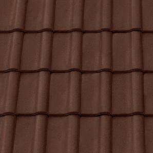 Керамическая черепица крайняя левая Tondach Румба Венгрия 300х500 мм коричневая