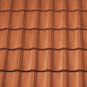 Керамічна бічна ліва черепиця Tondach Болеро Угорщина 300х500 мм мідно-коричнева