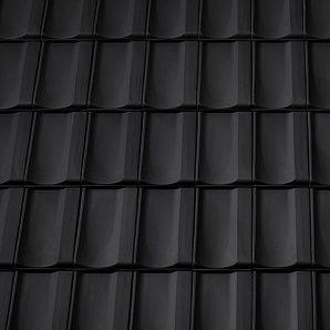Керамическая вентиляционная черепица Tondach Болеро Венгрия 300х500 мм черная