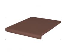 Ступень клинкерная King Klinker Wenecka гладкая 330x245x14 мм коричневая