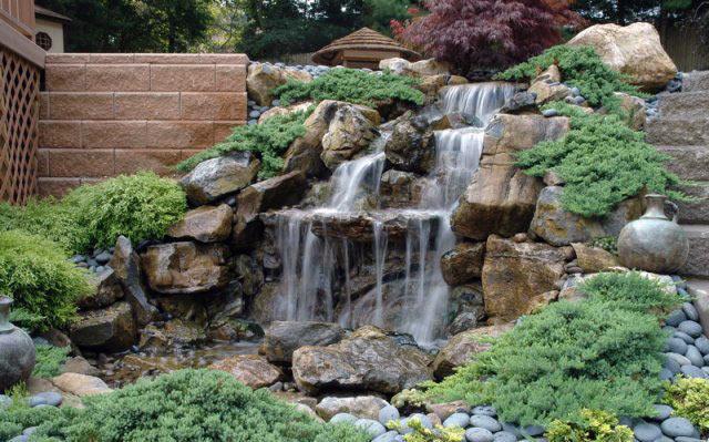 Декоративні садові водоспади