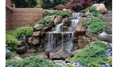 Декоративные садовые водопады