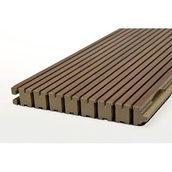 Акустические панели DECOR ACOUSTIC  Pyramid 30/2N  2400х576х17 мм натуральный шпон вишня