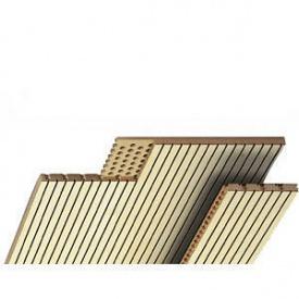 Акустичні панелі Topakustik 14/2M натуральний шпон бук 2780х128х17 мм