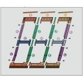 Оклад Roto EDR 3х2 для комбінованих установок з декількох вікон 54х78 см