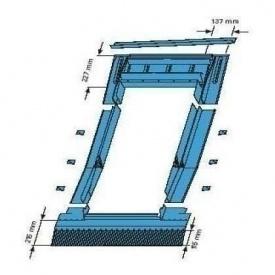 Оклад Roto EDR ZIE для низькопрофельованних покриттів 65х118 см