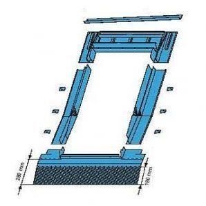Оклад Roto EDR HZI для високопрофільних покриттів 54х98 см