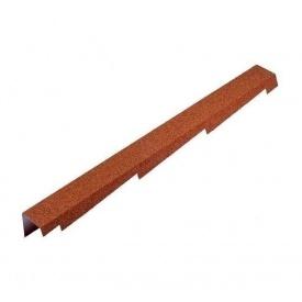 Торцева планка Metrotile BBCL 1250x100 мм червона