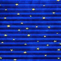 Плиссированная штора Roto ZFA 74х160 см голубые звезды F-160