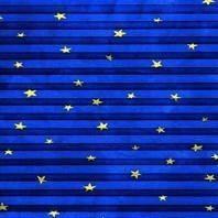 Плиссированная штора Roto ZFA 65х118 см голубые звезды F-160