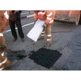 Проведение ямочного ремонта дороги