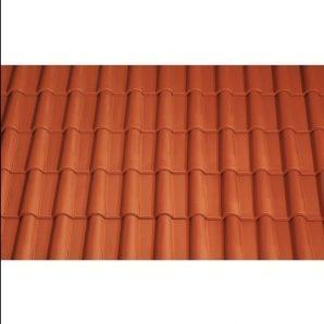 Черепица керамическая вентиляционная Tondach Романская Чехия 280х465 мм красная